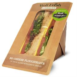 No Cheese Ploughman's Sandwich - Malted Brown Bread