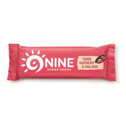 9NINE Carob, Raspberry & Chia Seed 40g (order 20 for retail outer)