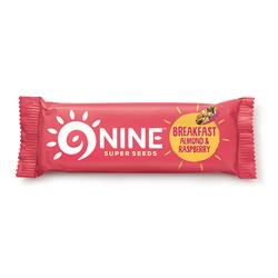 9NINE Breakfast Almond & Raspberry 50g (order 16 for retail outer)
