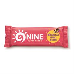 9NINE Breakfast Peanut & Raisin 50g (order 16 for retail outer)