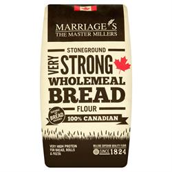 Very Strong Wholemeal 100% Canadian Bread Flour 1.5kg (order in singles or 5 for trade outer)