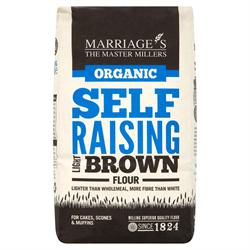 Org Light Brown Self Raising Flour 1000g