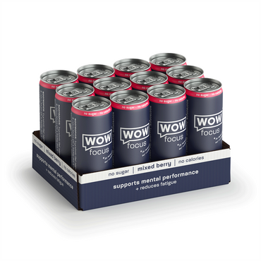 WOW Focus 12x250ml / Mixed Berries