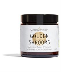 Golden Shrooms Adaptogen Blend 40g (order in singles or 8 for trade outer)