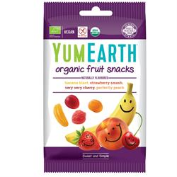 YumEarth Vegan Organic Fruit Snacks 50g (order 12 for retail outer)