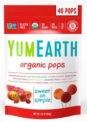 YumEarth Organic Pops 40 Lolly Bag (order in singles or 12 for retail outer)