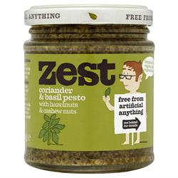 Coriander & Basil Pesto 165g (order in singles or 6 for retail outer)