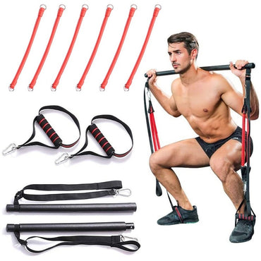 Equipment Fitness Sports Gym Pilates Bar System Full Body Leg Stretch Strap Workout Equipment Training Yoga Kit Resistance Bands