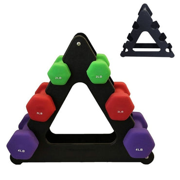 Dumbbell Bracket Triangle Leaves Tree Rack Stands Weight Lifting Holder Fitness Gym Equipment Home Exercise Accessories