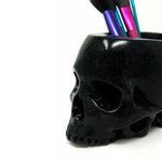 Glitter Skull Pen Pot - The Blackened Teeth