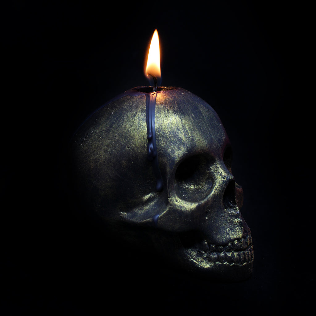 Gold Edition Skull Candle, The Blackened Teeth