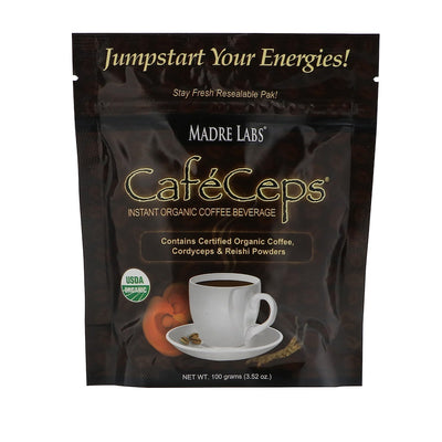 Madre Labs, CafeCeps, Organic Instant Coffee with Cordyceps and Reishi Mushroom