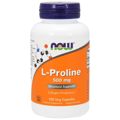 Now Foods, L-Proline, 500 mg x 120 Veg Capsules