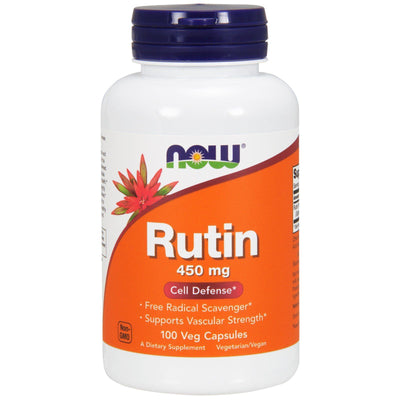 Now Foods, Rutin, 450 mg x 100 Veggie Caps