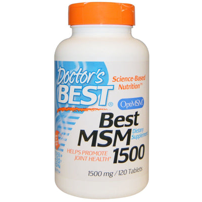 Doctor's Best, Best MSM,1500 mg x 120 Tablets