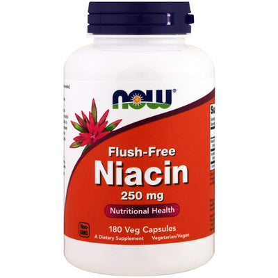 Now Foods, Flush-Free Niacin, 250 mg x 180 Veg Capsules