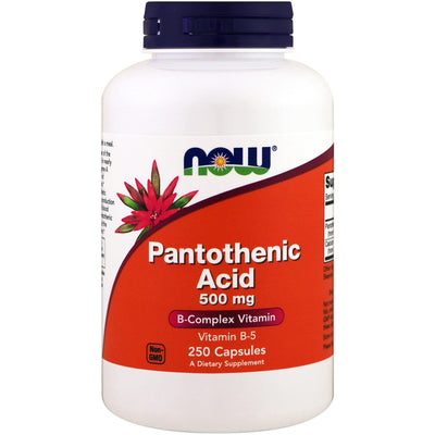 Now Foods, Pantothenic Acid, 500 mg x 250 Capsules