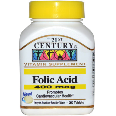 21st Century, Folic Acid, 400 mcg, 250 Tablets