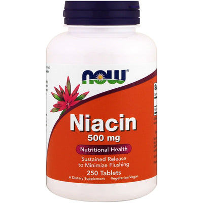 Now Foods, Niacin, 500 mg x 250 Tablets