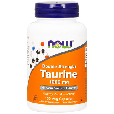 Now Foods, Taurine, Double Strength, 1,000 mg x 100 Veg Capsules