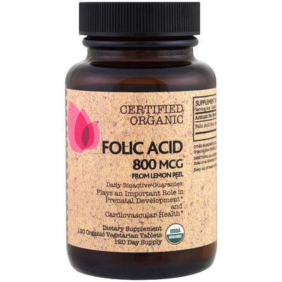 FutureBiotics, Folic Acid From Lemon Peel, 800 mcg, 120 Organic Veg Tablets