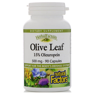 Natural Factors, Olive Leaf, 500 mg x 90 Capsules