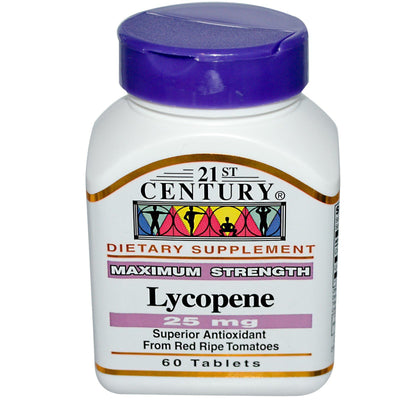 21st Century, Lycopene, Maximum Strength, 25 mg x 60 Tablets
