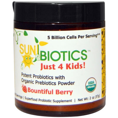 Sunbiotics, Just 4 Kids! Potent Probiotics with Organic Prebiotics Powder, Berry
