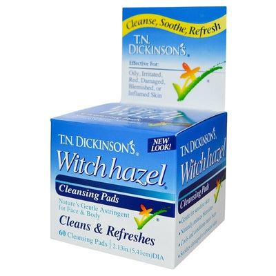 Dickinson Brands, T.N. Dickinson's Witch Hazel Cleansing Pads, 60 Pads