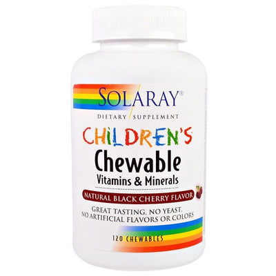 Solaray, Children's Chewable Vitamins and Minerals, Natural Black Cherry Flavor