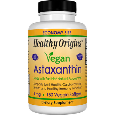Healthy Origins, Vegan Astaxanthin, 4 mg x 150 Veggie Softgels