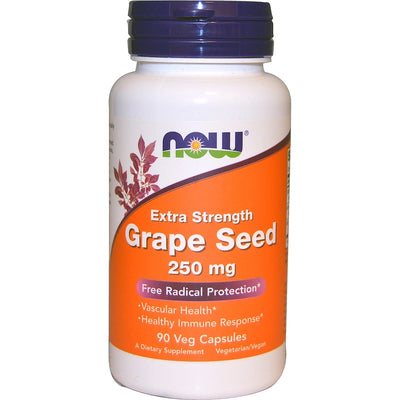 Now Foods, Grape Seed, Extra Strength, 250 mg, 90 Veg Caps