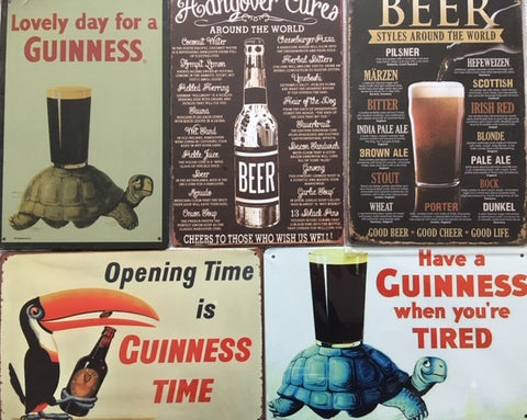 New vintage metal signs for your home bar