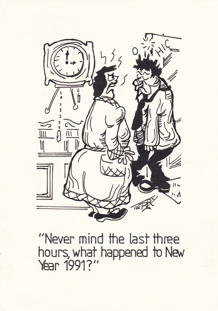 What Year is it Again? Original Hand Drawn Cartoon Drawing