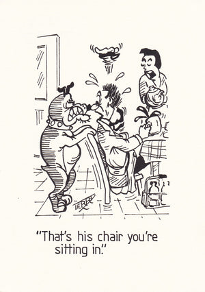 Dogs Chair. Original Hand Drawn Cartoon Drawing
