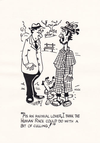 Who Are The Animals? Original Hand Drawn Cartoon Drawing