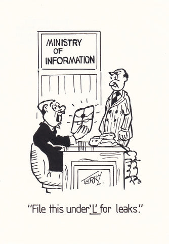 The Ministry. Original Hand Drawn Cartoon Drawing