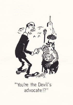 He's Got The Devil In Him. Original Hand Drawn Cartoon Drawing