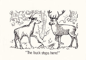 Don't Pass The Buck Original Hand Drawn Cartoon Drawing