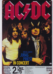ACDC at Nurnberg Germany Vintage Metal Sign