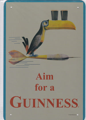 Aim for a Guinness Vintage Metal Sign