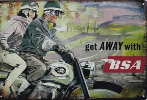 BSA Motorcycles Advertising Poster