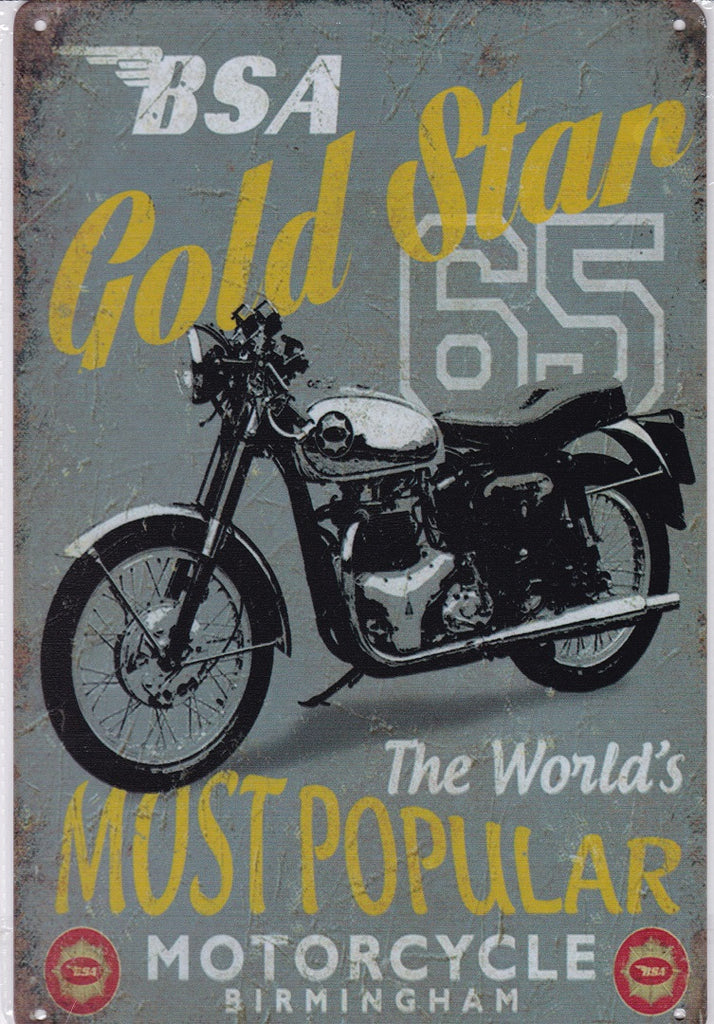 BSA Gold Star 65 Vintage Metal Sign