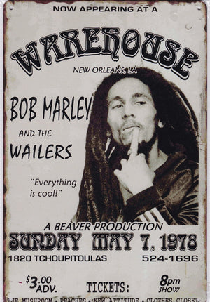 Bob Marley and the Wailers Vintage Metal Sign