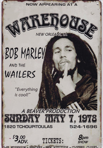 Image of Bob Marley and the Wailers Vintage Metal Sign