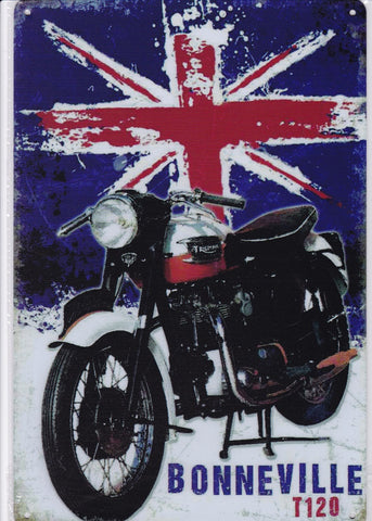 Triumph Bonneville T120 Vintage Metal Sign