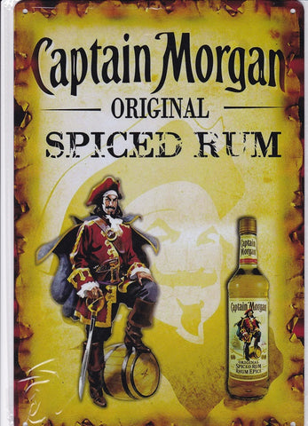 Captain Morgan Spiced Rum Vintage Metal Sign