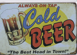 Cold Beer Vintage Metal Sign