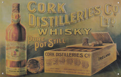 Cork Irish Whisky Vintage Metal Sign