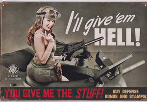 US Army Poster Vintage Metal Sign